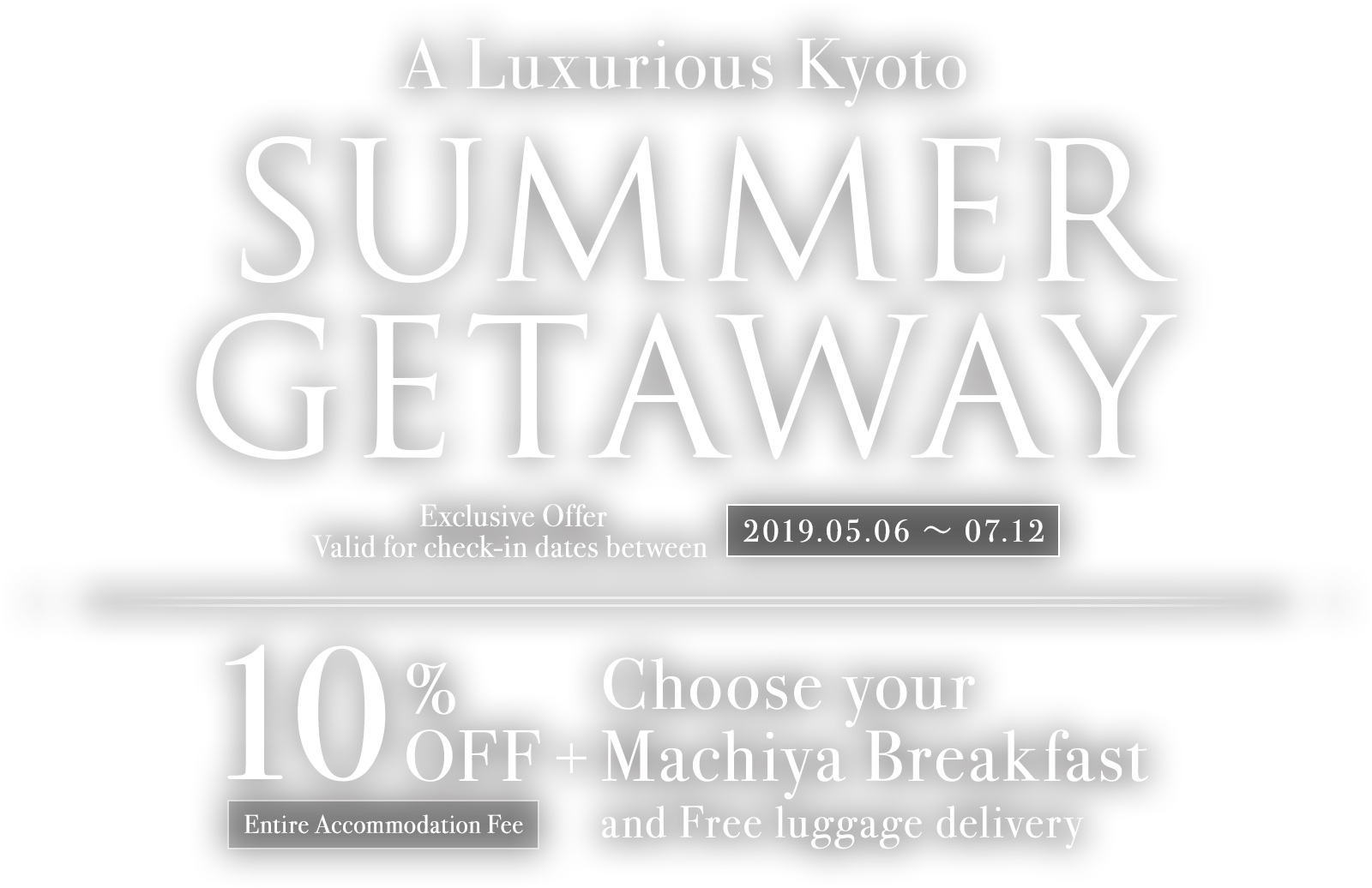 Kyoto Summer Holiday Deals | 10% Discount + Free Breakfast | Limited Time